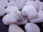Ethnic Sterling silver earrings.. Ref. NGP