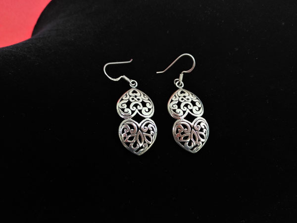 Ethnic Sterling silver earrings.. Ref. NHF
