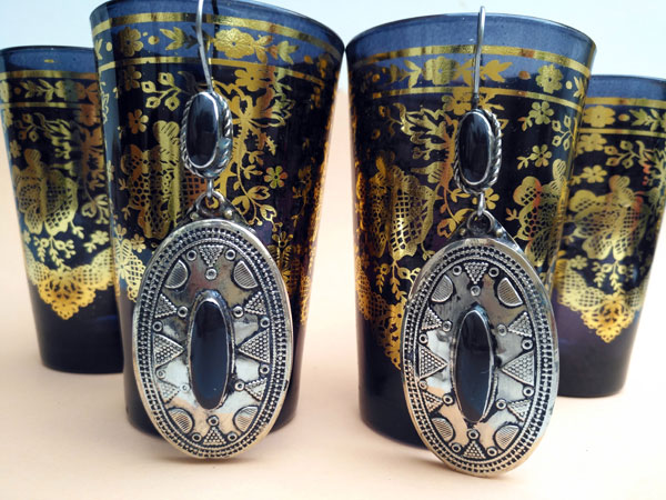 Turkmen ethnic earrings.. Foto 1
