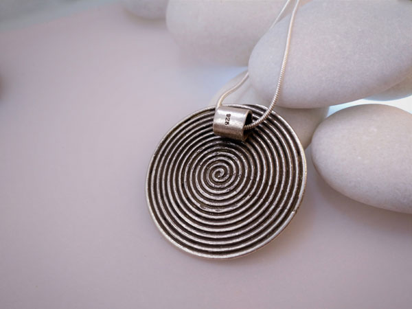"""Karen"" Ethnic Sterling silver pendant.. Foto 2"