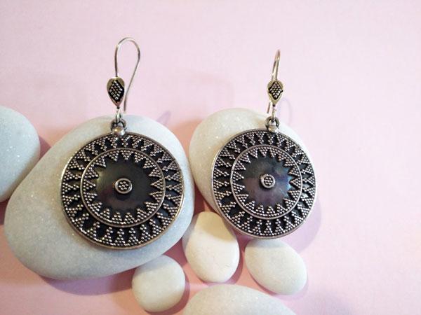 Ehnic Sterling silver earrings.. Foto 2