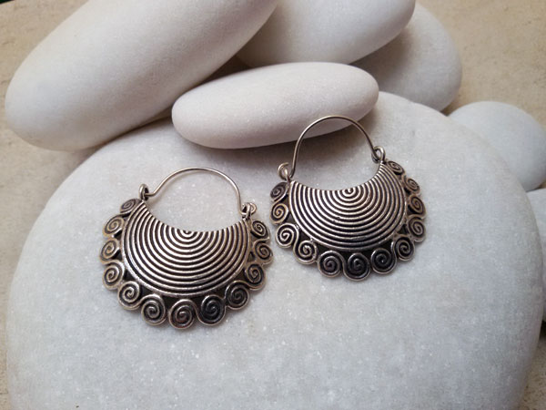 """Karen"" Ethnic Sterling silver earrings.. Foto 1"