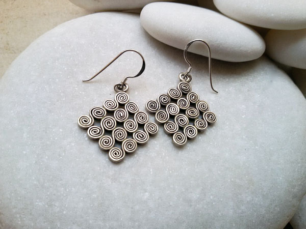 """Karen"" Ethnic Sterling silver earrings.. Foto 1"