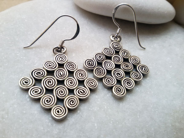 """Karen"" Ethnic Sterling silver earrings.. Foto 2"