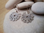 """Karen"" Ethnic Sterling silver earrings.. Ref. TBR"