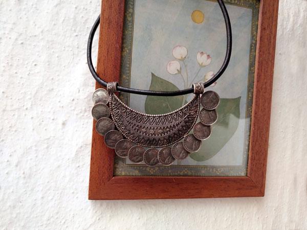 Gargantilla artesanal de plata.. Foto 1