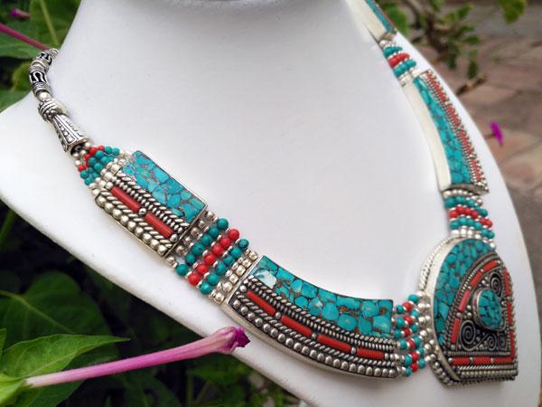 Collar artesanal tibetano.. Foto 2