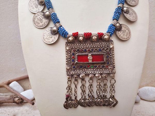 Collar etnico artesanal procedente de Herat, Afghanistan.. Ref. TCY