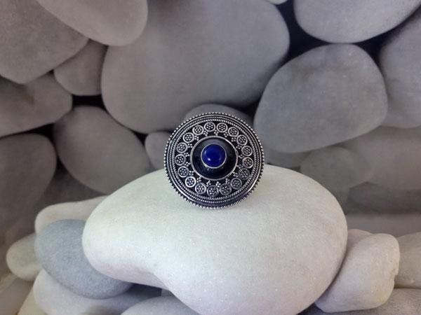 Anillo de plata y lapis lazuli.. Ref. TDD
