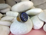 Lapis lazuli and sterling silver ethnic ring.. Ref. TDG