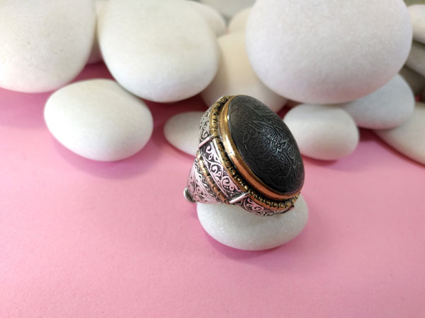 Antiguo anillo etnico artesanal.. Foto 3
