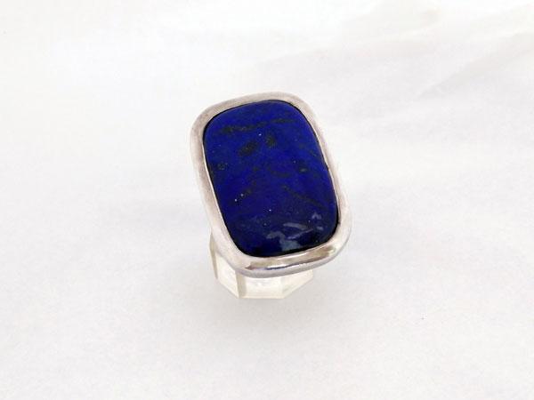 Anillo etnico de plata y Lapis lazuli.. Ref. TDZ