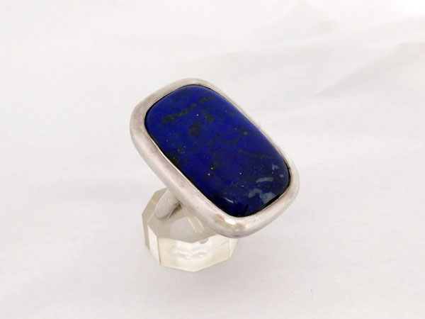 Ethnic Sterling silver and Lapis lazuli ring.. Foto 2