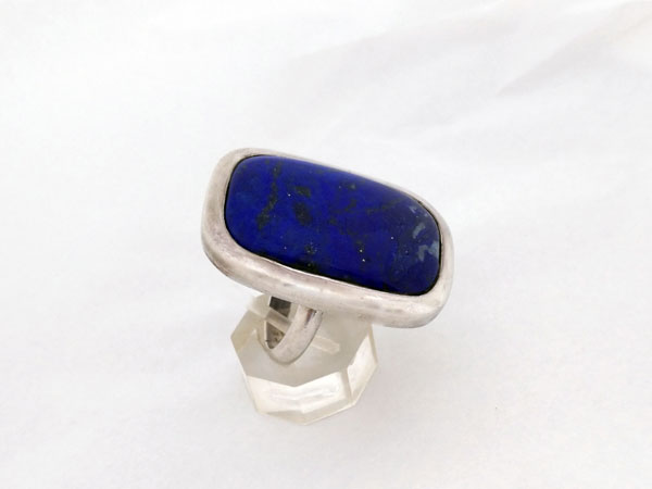 Ethnic Sterling silver and Lapis lazuli ring.. Foto 3