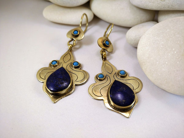 """Tekke"" ethnic earrings.. Ref. TEE"