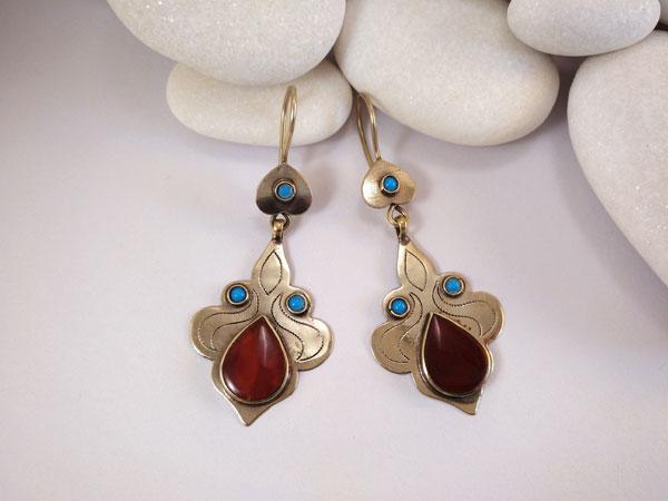 """""""Tekke"""" ethnic earrings.. Foto 2"""