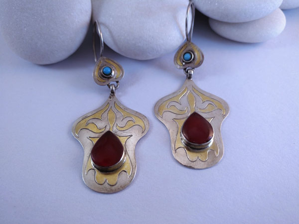 """Tekke"" ethnic earrings.. Foto 1"