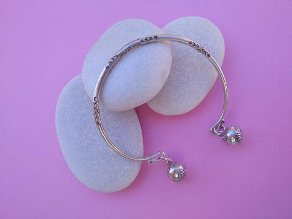 Karen hill tribe Sterling silver bracelet.. Foto 1