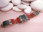 Pulsera artesanal etnica tibetana.. Ref. TFJ