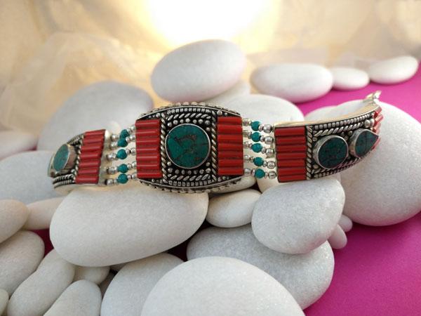 Pulsera artesanal tibetana.. Ref. TFO
