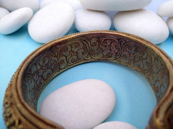 Antique traditional Tibetan bracelet.. Foto 4