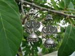 Pendientes artesanales etnicos de plata.. Ref. TGN