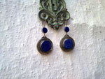 Lapis lapiz ethnic earrings.. Ref. TGO