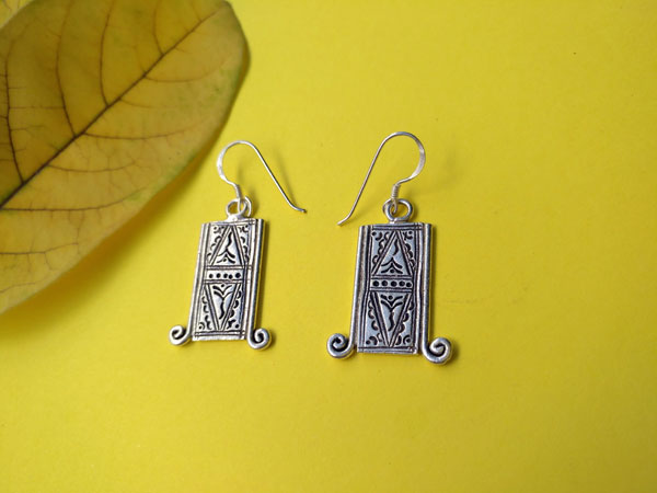 Tuareg traditional earrings, handcrafted on Sterling silver.. Foto 2