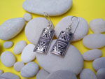 Tuareg traditional earrings, handcrafted on Sterling silver.. Ref. TGU