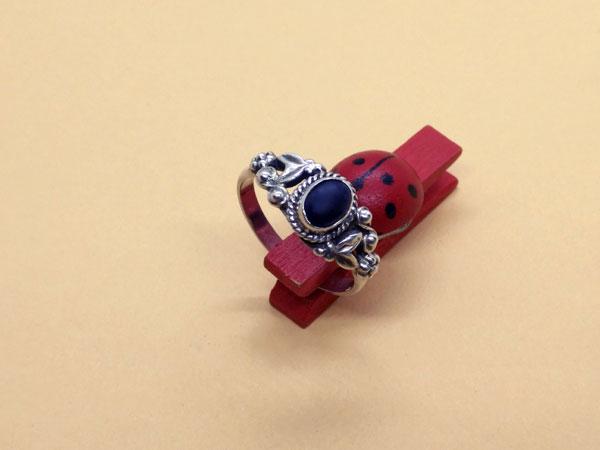 Anillo etnico de plata y lapis lazuli.. Ref. TIK