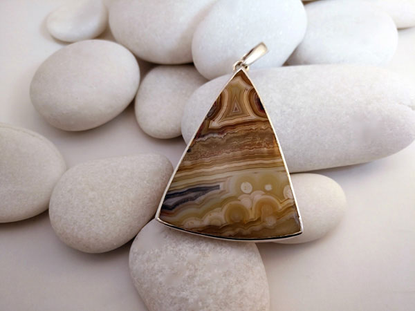Agate and Sterling silver pendant.. Foto 1