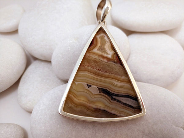 Agate and Sterling silver pendant.. Foto 2