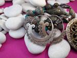 Pendientes artesanales de plata.. Ref. TMZ