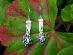 Sterling silver and Iolite gemstones earrings.. Ref. TNB