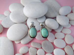 Ethnic Sterling silver earrings with Turquoises.. Ref. TNG