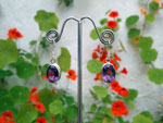 Namibia Amethyst and Sterling silver earrings.. Ref. TNH