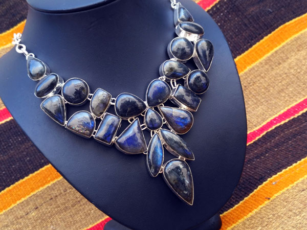 Labradorite and Sterling silver necklace.. Foto 2