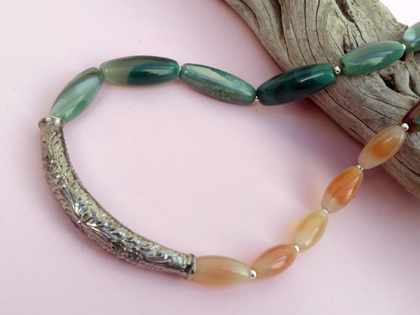 Ethnic Sterling silver necklace.. Foto 3