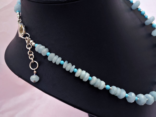 Collar de plata con Aguamarinas y Turquesas.. Foto 5