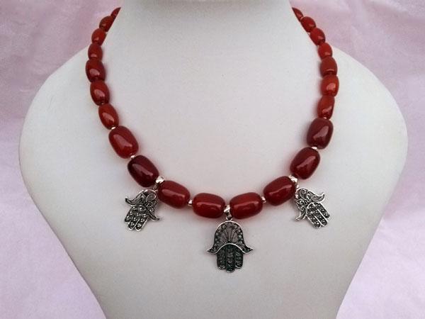 Collar etnico de plata y agata cornalina.. Foto 1