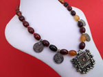 Carnelian agate traditional ethnic necklace.. Ref. TRC