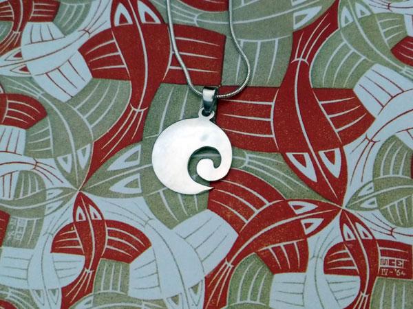 Karen ethnic traditional silver pendant.. Foto 2