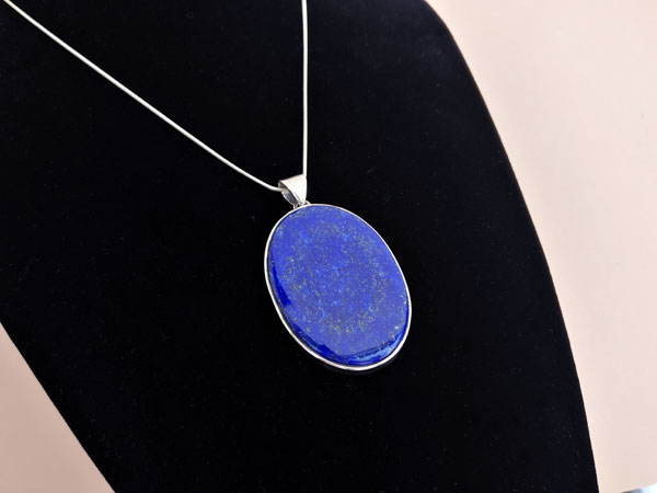 Colgante etnico de plata y Lapis lazuli.. Foto 1