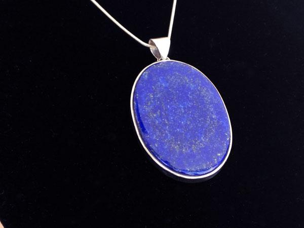 Colgante etnico de plata y Lapis lazuli.. Foto 2