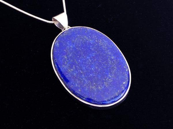 Colgante etnico de plata y Lapis lazuli.. Foto 3