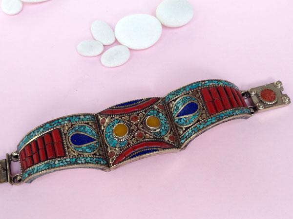 Pulsera etnica artesanal tibetana.. Ref. TXD