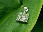Peridot and Sterling silver ethnic pendant.. Ref. TYC