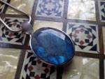 Labradorite gemstone and Sterling silver pendant.. Ref. XAE