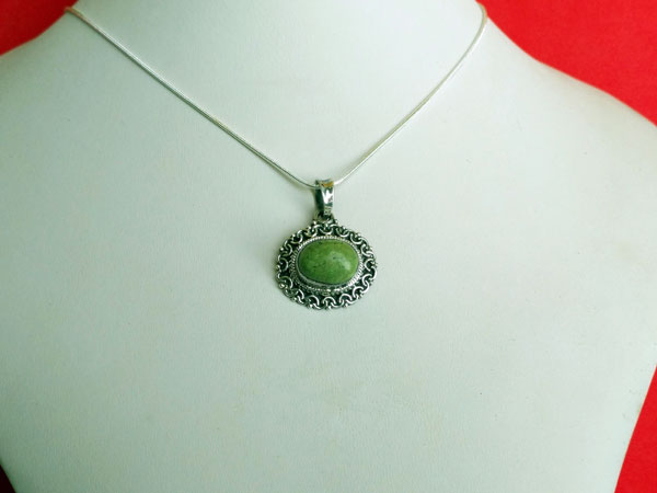 Tibetan Turquoise and Sterling silver pendant.. Ref. XAR